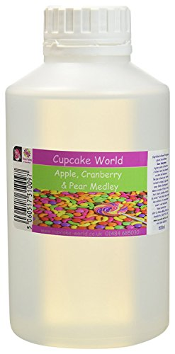 Cupcake World Aromas Alimentarios Intenso Manzana, Arándano Rojo y Pera - 500 ml