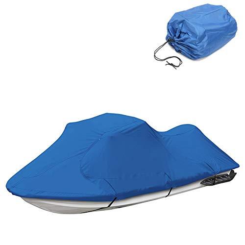 Funda de Lancha Motora, 210D Impermeable Oxford UV Protección Motora Lancha Cover, Se Adapta A Motos De Agua 136'' a 145'', Azul