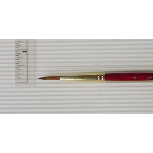 Princeton Series 4050 Synthetic Sable Watercolor Brushes 4 short handle round