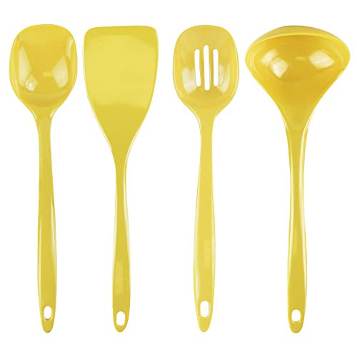 Calypso Basics by Reston Lloyd Melamine Utensil Set, 4-Piece, Lemon