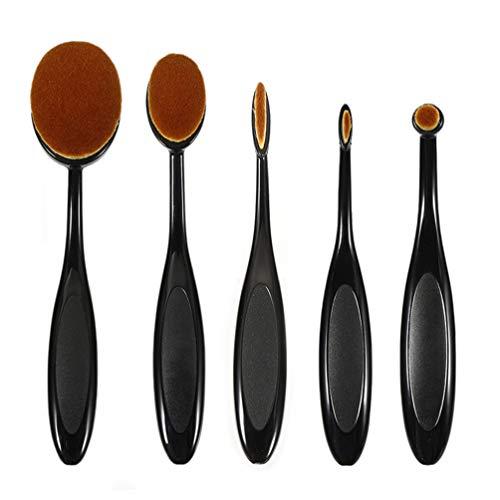 5 Pcs Maquillage Fondation Poudre Pinceau Conceler Maquillage Blush Brosse À Dents Ovale Forme Cosmétique Beauté Outil