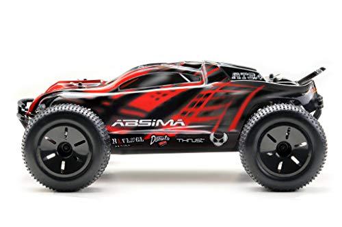 Absima Hot Shot Absima 1:10 RC Modellauto AT3.4 Truggy mit Brushed Elektroantrieb, 2,4 GHz Fernsteuerung und Allradantrieb RTR, Rot, Grau, Schwarz