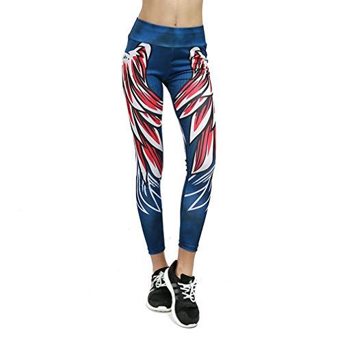 5043 yoga prachtige stof melk zijde ademend slank zweet slim fit heupen anti-strippen sport leggings (m blauw rood)