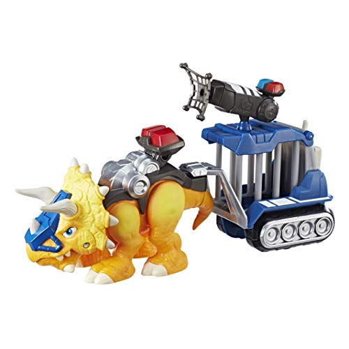 Chomp Squad Playskool Officer Lockup, Triceratops Dinosaur Figure, Police Toy with Pretend Jail Cell, Dinosaur Toy for Kids 3 Years...