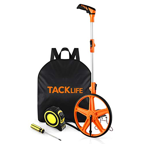 Distance Measuring Wheel, 3-sections Folding Portable Collapsible 0-9,999ft Measure Wheel Tool in Feet&Inch,Mechanical Counter Rolling Precision Measuring Devices with Cloth Backpack-TACKLIFE MMW01