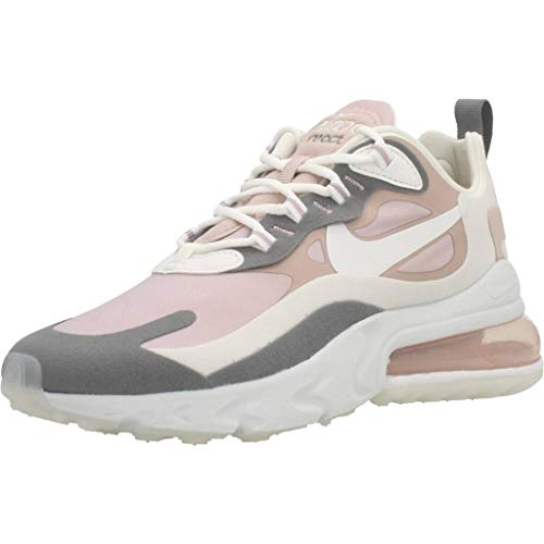 Nike W Air MAX 270 React, Zapatillas para Correr para Mujer, Multicolore Plum Chalk Summit White Stone Mauve Smoke Grey, 37.5 EU