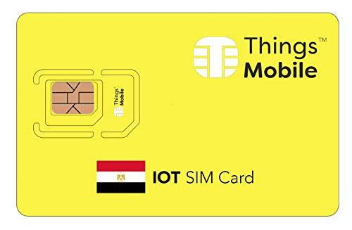 SIM-Karte für IOT ÄGYPTEN - Things Mobile - weltweite Netzabdeckung, Mehrfachanbieternetz GSM/2G/3G/4G, ohne Fixkosten. 10 € Guthaben inklusive