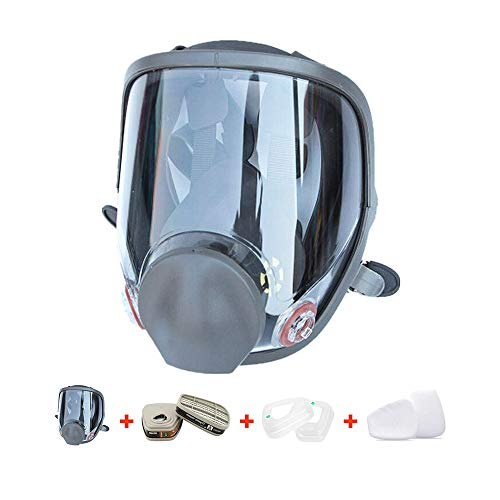 RoofWorld 15 in 1 Gas Mask Full Face Facepiece Respirator Same for Gas Respirator with Carbon Filters Painting