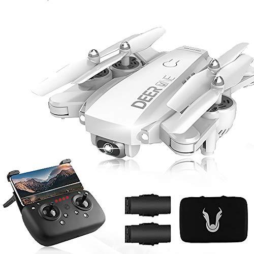 SLCE Drone GPS Telecamera 4K HD Drone Professionale con 120°Grandangolare Regolabile, 5G WiFi 1.5Km Video Live, Quadricottero RC con Ritorno Home, Seguimi, Volo Circolare, per I Principianti,Bianca