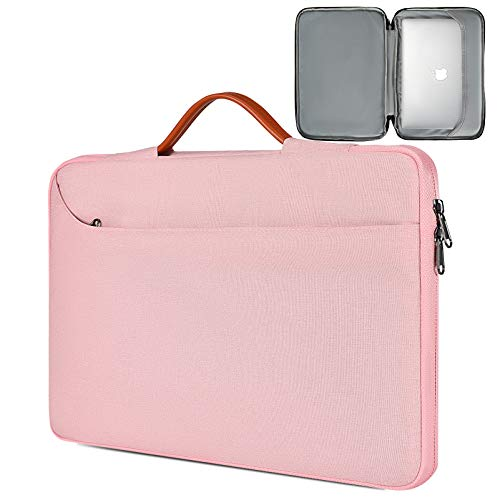 13.5-15 Inch Laptop Sleeve Bag, Waterproof Women Ladies TSA Briefcase with Organizer for Lenovo Flex 5 14, Lenovo Yoga C940 C930 14, Dell Inspiron 13, HP Chromebook 14, ASUS Surface Carrying Case,Pink
