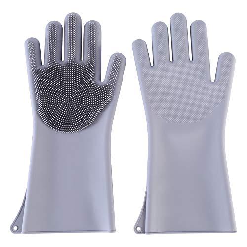 Blankspace Herramienta de cocina plato de limpieza de plato Guantes de silicona para cocina casera guantes de silicona, B