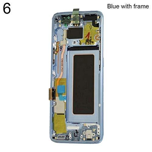 Pantalla de repuesto digitalizador para Samsung S8 Plus G955 LCD pantalla táctil digitalizador con/sin marco con marco azul
