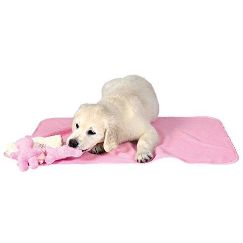 Trixie 15587 puppieset met deken, speelgoed en handdoek, roze