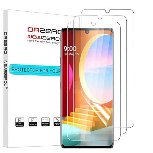 NEWZEROL 3 stück Ersatz für LG Velvet 4G 5G UW Schutzfolie LG G900/LG 910 In Screen Fingerabdruckerkennung [Premium-Qualität] TPU 3D Anti-Blase Kante an Kante [Vollabdeckung] Soft-Bildschirmschutzfolie