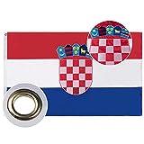 Lixure Kroatien Flagge/Fahne 90x150cm Top Qualität Europa Länder Nationalflaggen - Durable 210D Nylon Draußen/Drinnen Dekoration Flagge MEHRWEG
