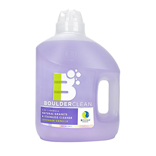 Boulder Clean Natural Granite and Stainless Steel Cleaner Refill, Lavender Vanilla, 100 Fluid Ounce