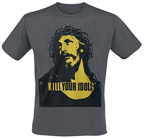 Kill Your Idols Hombre Camiseta Gris Marengo, Regular