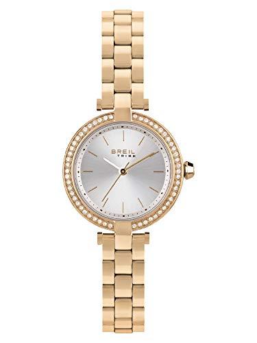 Reloj Breil colección Sybille Movimiento de Tiempo único - Brazalete de Acero y Cuarzo 3h para Mujer ES One Size