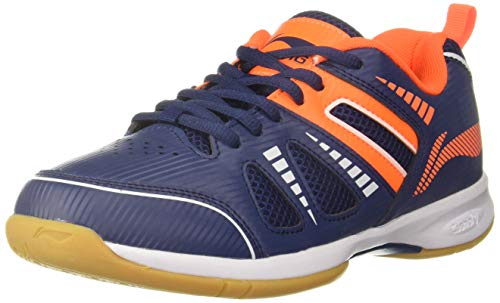 Li-Ning Attack III Non-Marking Badminton Shoes, UK 6 (Navy/Orange)