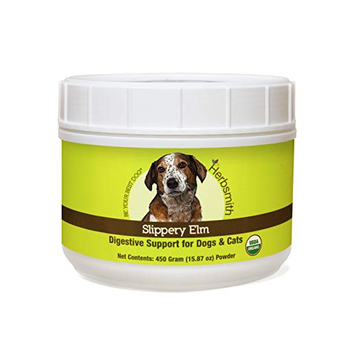 Herbsmith Organic Slippery Elm - Digestive Aid for Dogs and Cats - Constipation and Diarrhea Relief...