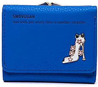 Elegant Womens Wallet Small Clutch Wallet Hand Purse for Womens Women's Girls Ladies Mini Wallet Clutch Purse 3 Folds Buckle Money Package Card Holder Wallet for Women.