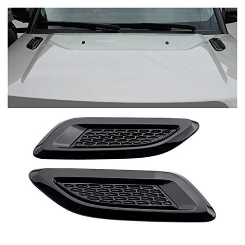 Cubierta de rejilla de ventilación para capó de coche para la salida de aire de Land Rover Discovery 4/Freelander 2/Range Rover Evoque 2011-2016 (color: negro)