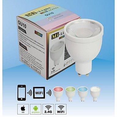 Preisvergleich Produktbild MOFY 2, 4 g 4 Neue Gruppe GU10 4W RGBW LED-Strahler Lampen dimmbar Wireless WiFi Farbwechsel Lampe