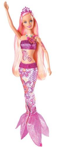 Mattel V8661 - Barbie als Merliah, Meerjungfrau, Puppe aus Das Geheimnis von Oceana