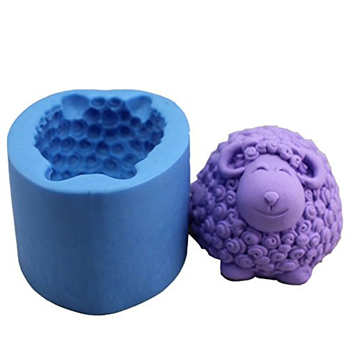 LC Cute Goat N119 Craft Art Silikon Seife Form Craft DIY, Seifengießform Kerze handgefertigt