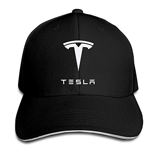 Youaini Bro-Custom Simple Tesla Motors Sandwich Flex Fit Hat Baseball Cap Black