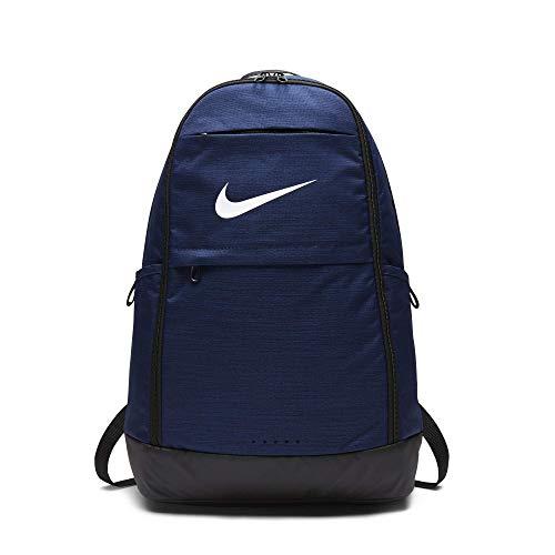 Nike Unisex-Erwachsene Nk Brsla Xl Bkpk - Na Schultertaschen, Mehrfarbig (MIDNIGHTNVY/Blck/WHT), Einheitsgröße