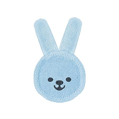 MAM 922411 - Oral Care Rabbit, Guanto per igiene orale coniglietto, colore: Blu – Istruzioni in lingua straniera