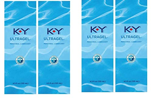 K-Y UltraGel Personal Lubricant, Premium Water Based and Non-Greasy Gel Lube for Women, Men and Couples, 4.5 fl oz Each, 4 Pack