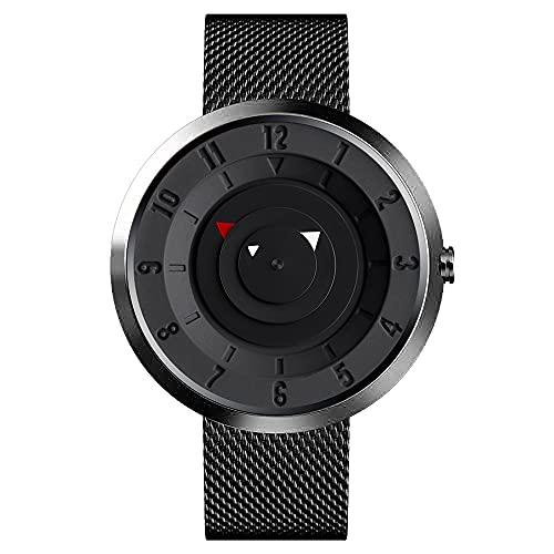Bluelander Men's Quartz Watch, Zinc Alloy, Stainless Steel Strap, Waterproof, Innovative Look
