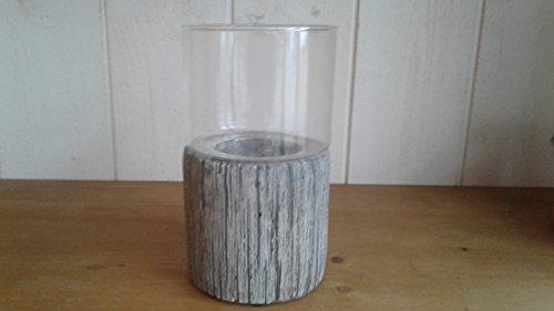 ptmd Vase auf Sitzfläche Zement 18 x 10,5 cm
