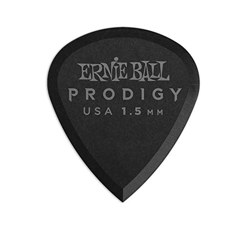 Ernie Ball 1.5mm Black Mini Prodigy Picks Paquete de 6