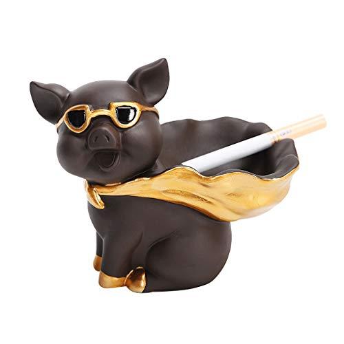 kiter Cenicero Cerámica Cenicero Personalidad Creativa Retro Ceniceros Piggy Ash bandejas de Escritorio de Ministerio del Interior Decoraciones Ceniza Bandeja (Color : A)
