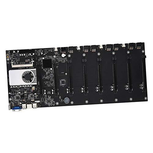H HILABEE BTC 37 Mining Machine Motherboard DDR3 Speicher VGA Schnittstelle, Geringer Stromverbrauch, Langlebiges Material