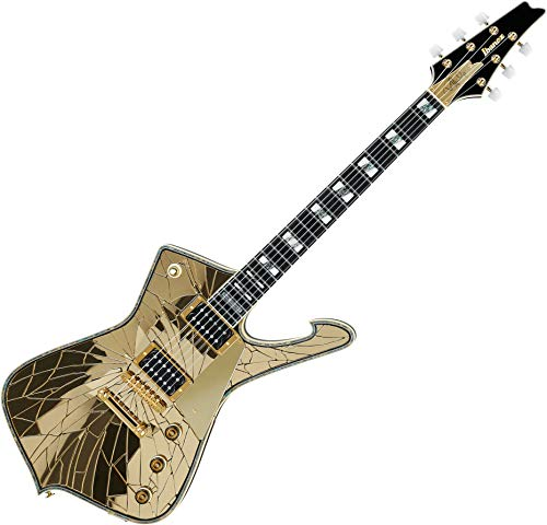 Ibanez Paul Stanley PS4CM Electric Guitar and Case Cracked Mirror Gold