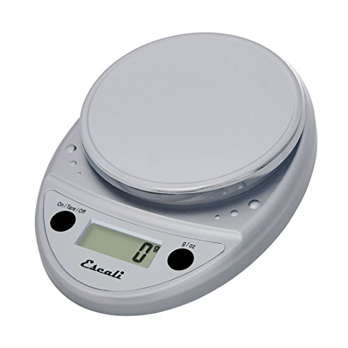 Escali Primo Digital Kitchen Scale (11 lb/ 5 kg Capacity) (0.05 oz/ 1 g Increment) Premium Food Scale for Baking, Cooking and Mail - Lightweight and Durable Design - Lifetime ltd. Warranty - Chrome