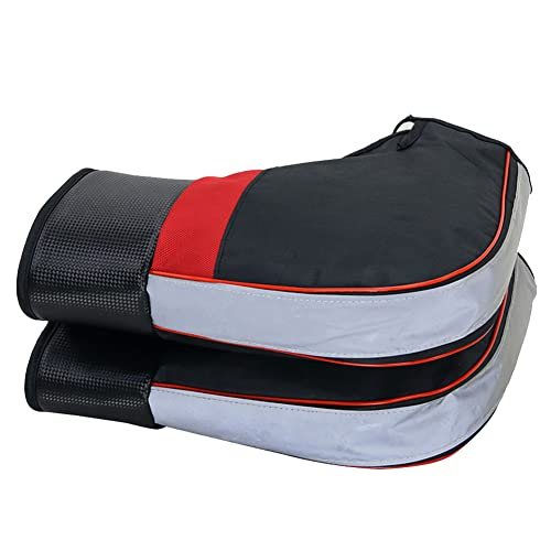 HE TUI Universal Motocicleta Scooter Manillar Calentador Orejeras Impermeables Guantes De Invierno Gruesos Y Cálidos con Tira Reflectante