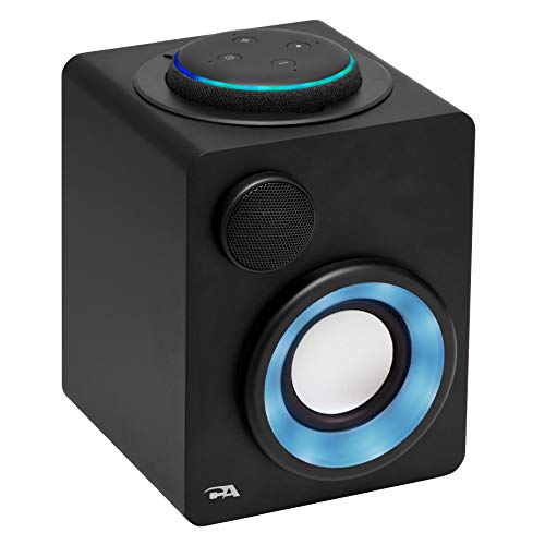 Cyber Acoustics Portable Alexa Docking Speaker for Amazon Echo Dot 3rd Gen. with Built-in Rechargeable Battery (CA-3710)