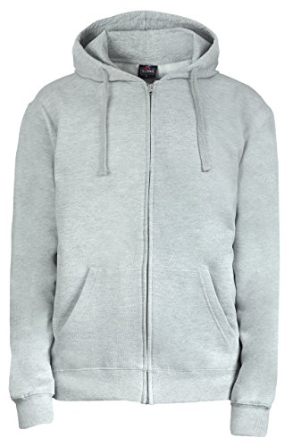 SUMG Apparel Unisex Kapuzenjacke Kapuzen Sweat-Jacke 'Basic Hooded Zipper' (M, grau meliert)