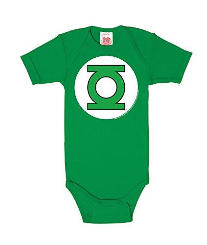 Logoshirt Body para bebé Linterna Verde - Logotipo - DC Comics - Green Lantern - Logo - Pelele para bebé - Verde - Diseño Original con Licencia, Talla 50/56, 0-2 Meses