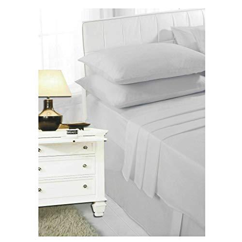 COTON WIZE - Sábana encimera para cama super king size, 100% polialgodón, sábana superior de polialgodón para cama superking, sábana de polialgodón tamaño super king size