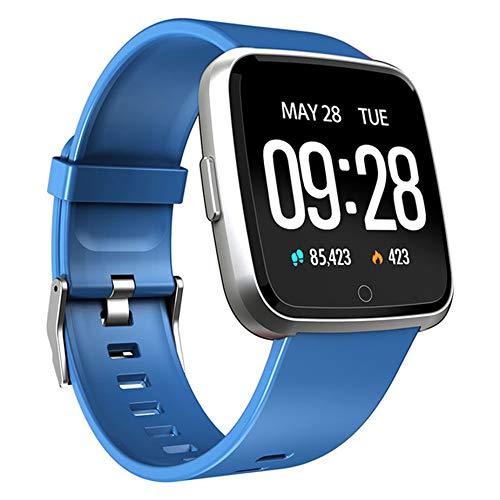ZZJ Reloj Inteligente Ip67 Impermeable Rastreador de Ejercicios Monitor de Ritmo cardíaco Presión Arterial Mujeres Hombres Reloj Smartwatch para Android iOS,C