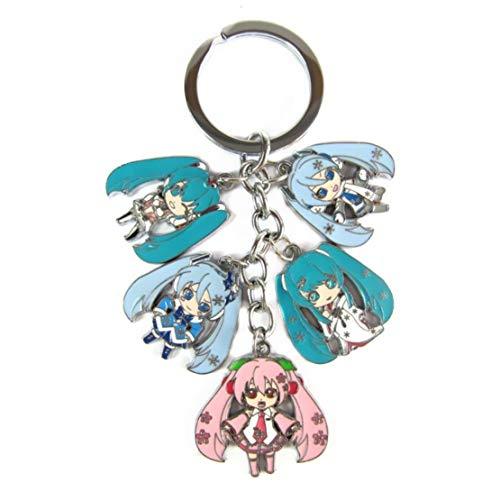 WinVI Hatsune Miku Metal Charm Keychain Keyring (Hatsune2)