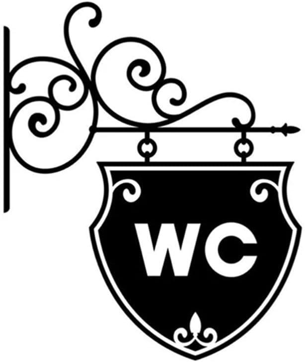Vintage WC Toilet Bathroom Door Safety and trust Doorplate Sticker Decoratio Ranking TOP9 Wall