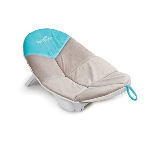 Cushy Nest Cloud Infant Bather | Teal/Grey | Support & Comfort for Bathing | Fits in Most Sinks and Tubs| Machine Washable Cushion