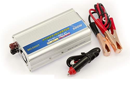 Kalea-Informatique© – Convertitore di tensione 24 V a 220 V (invertitore AC – DC) – potenza 500 W (1000 W in crema) – Godetevi una presa da 220 V da una fonte da 24 V.